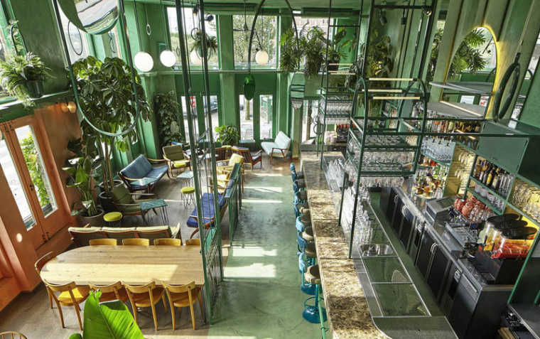 城市中的热带雨林阿姆斯特街角餐厅_4