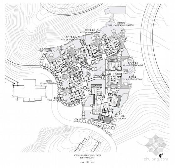 [广州]商务会议养生馆现代spa温泉区室内设计方案
