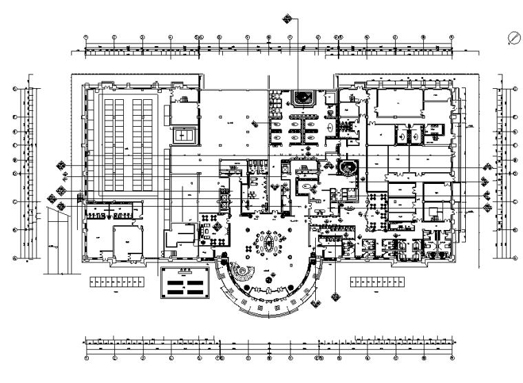 新古典异域风情休闲水疗会所空间设计施工图(附效果图)