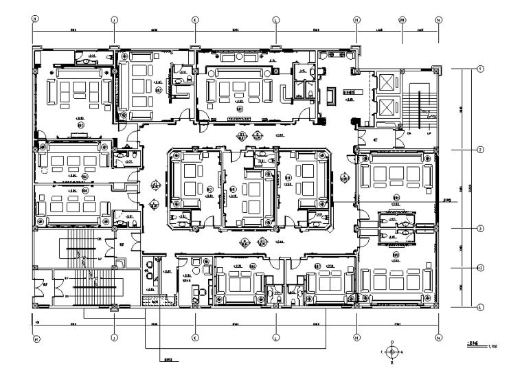HF国际商务娱乐会所空间设计施工图