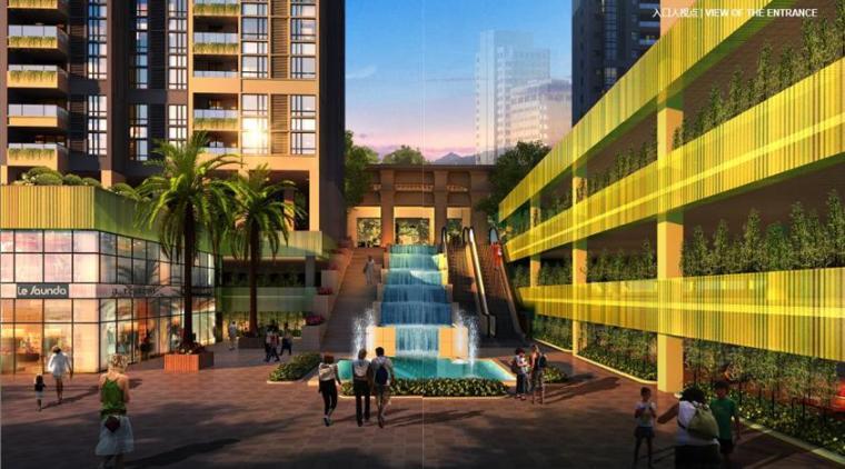 现代风格顶级生态豪华超高层住宅及高层住宅建筑效果图