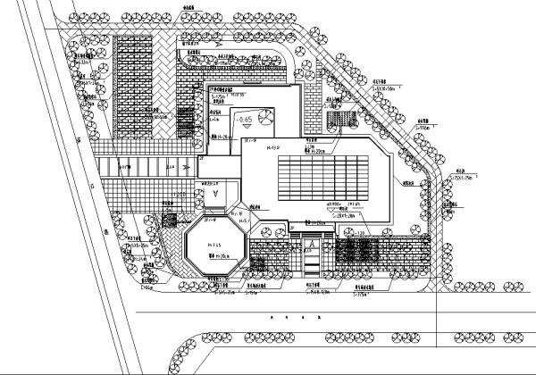 [合集]海绵城市办公空间景观设计施工图(3套)-海绵设计平面图