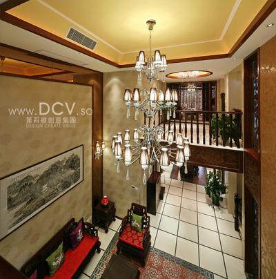 西安具有东方韵味得别墅设计-绿地世纪城样板间_4
