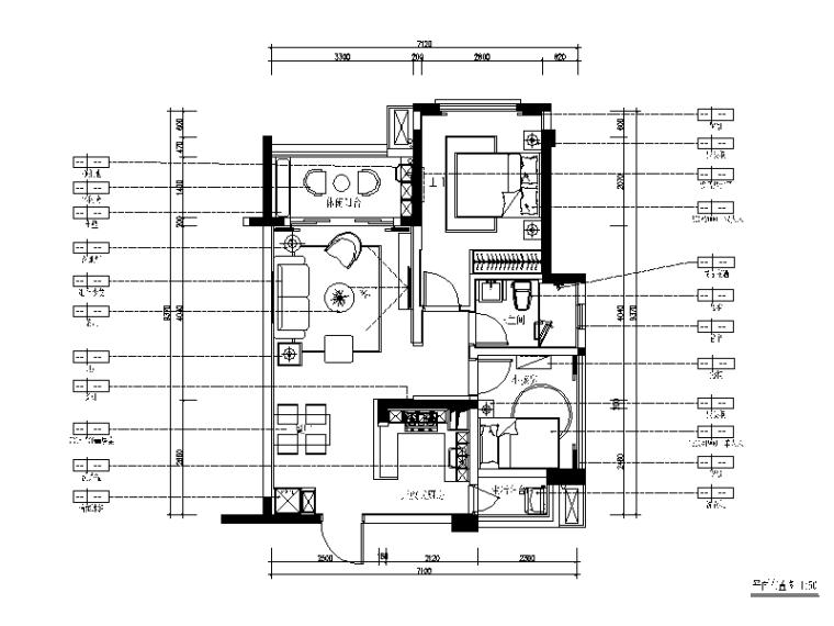 北欧风格样板房设计CAD施工图(含效果图、3D文件)