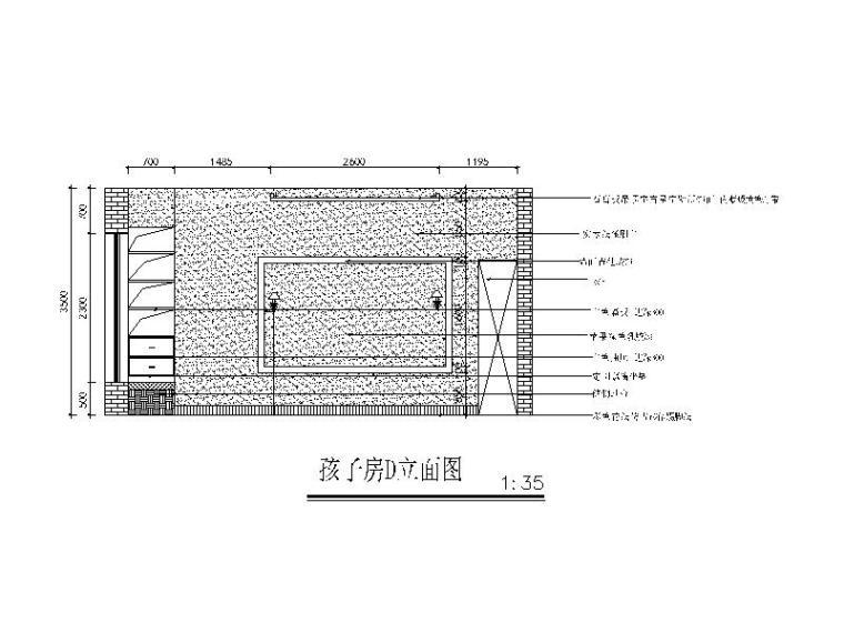 全套地中海田园风格样板房CAD施工图(含效果图)_5