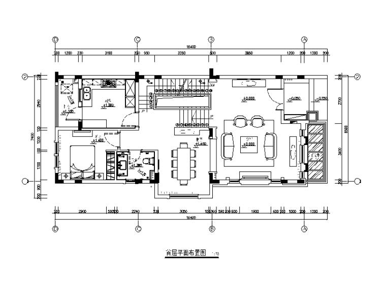 地中海别墅设计CAD施工图(含效果图、软装方案)_1
