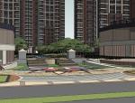 现代风格住宅小区SU精模型