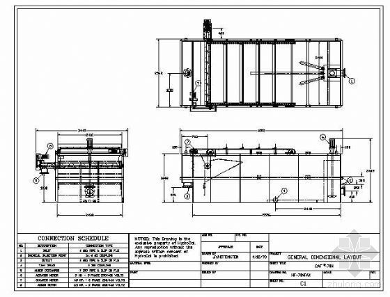 CAF-70M气浮池平剖面图