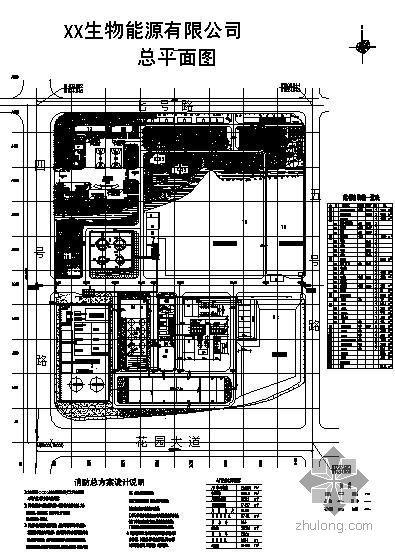 某生物能源公司厂区消防设计图纸