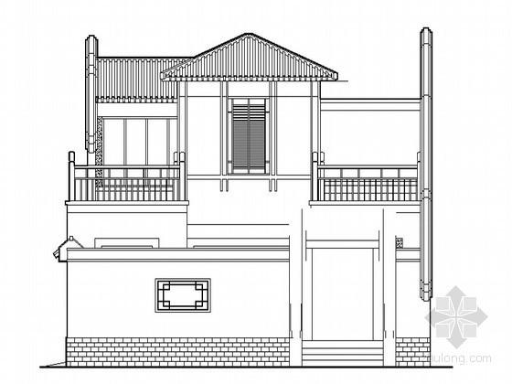 某仿古四合院民居建筑方案图