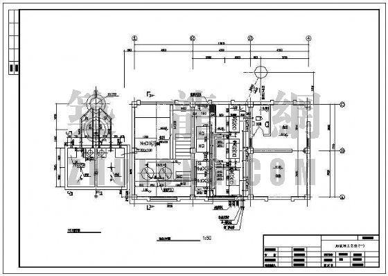 某污水处理厂加氯间工艺图(初步设计)