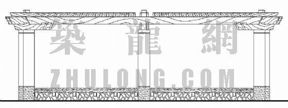 弧形特色花架施工图