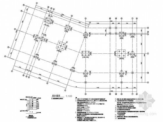 [江苏]地上三层钢框架结构售楼处结构施工图(含部分手算计算书)
