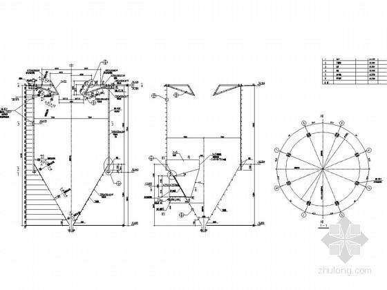 烧结机烟气脱硫塔本体钢结构施工图