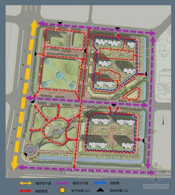 超高层城市综合体规划分析图