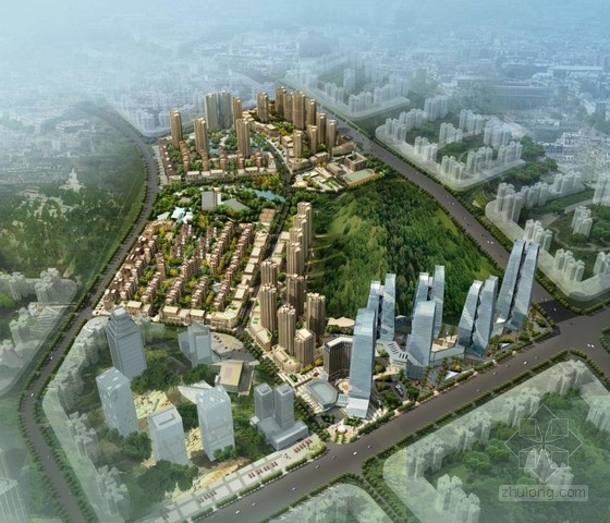 [贵阳]城市核心地块修建性详细规划建筑设计方案文本(含住宅办公商业幼儿园等)