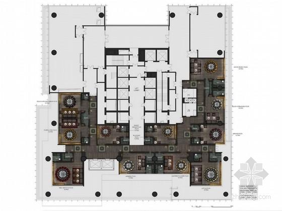 [四川]豪华五星级现代酒店餐厅室内装修设计方案