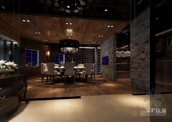 [天津]中外合资企业高档典雅红酒展厅设计方案图vip包房效果图