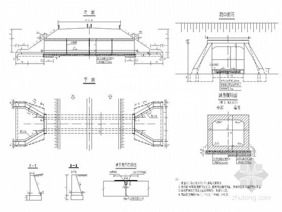 单孔钢筋混凝土箱涵通道通用图(24张)