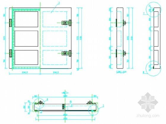 小型防洪闸门金属结构设计节点详图
