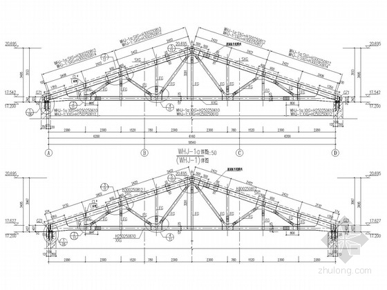 三角形钢桁架仓库施工图