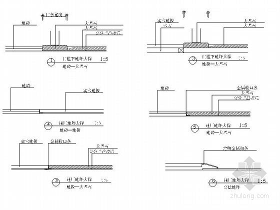 [无锡]滨湖知名地产现代五居室装修图(含效果)门槛石大样图