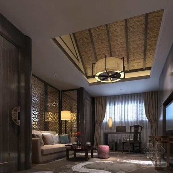 特色中式会所套房室内装修效果图