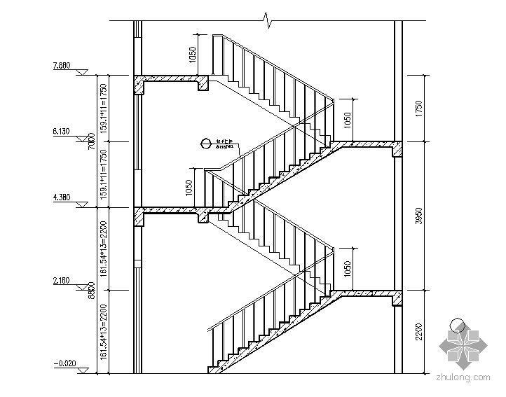 [日广]某三层沿街楼-楼梯大样图