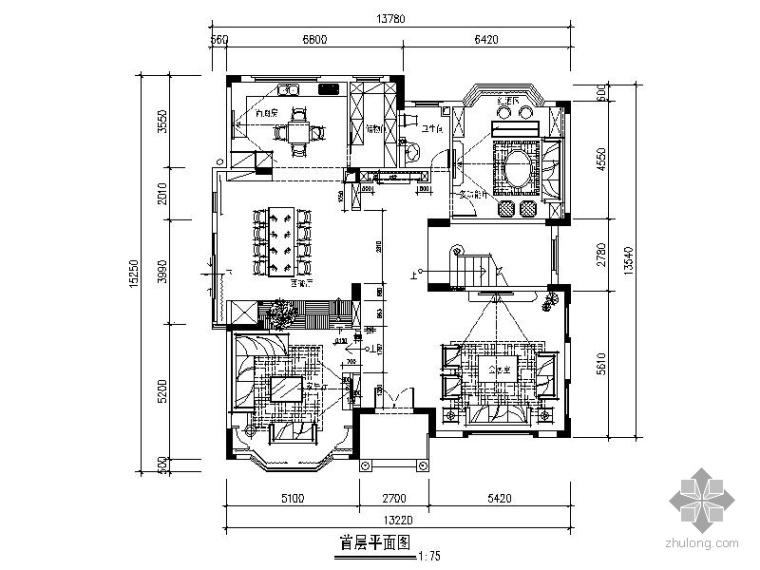 现代三层别墅室内装修图_1