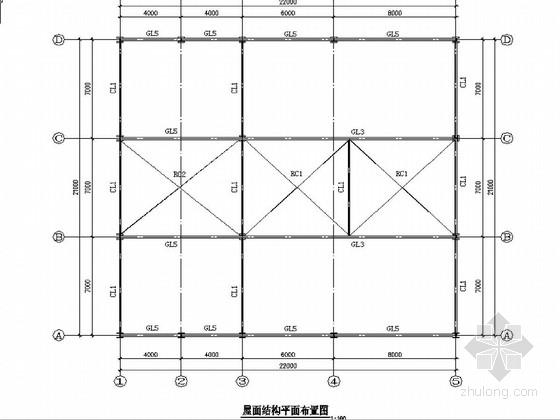 郑州某700T/D浸出车间建筑结构图