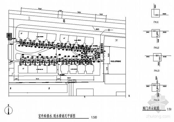 某仪表厂小区室外给排水管道工程施工图