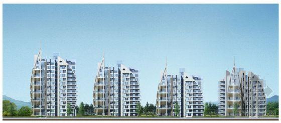 某高层住宅小区建筑规划设计方案图(用地1.65公顷)