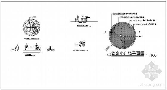 广场直饮水机图纸