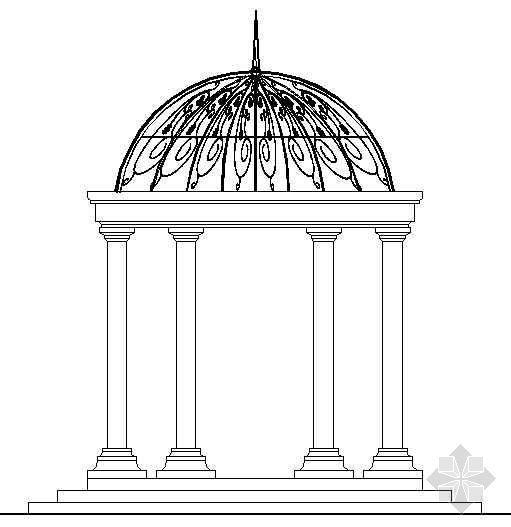 欧式亭结构施工图