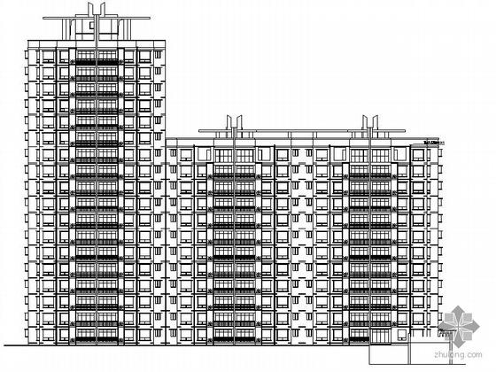 [重庆]某十八层住宅建筑施工图