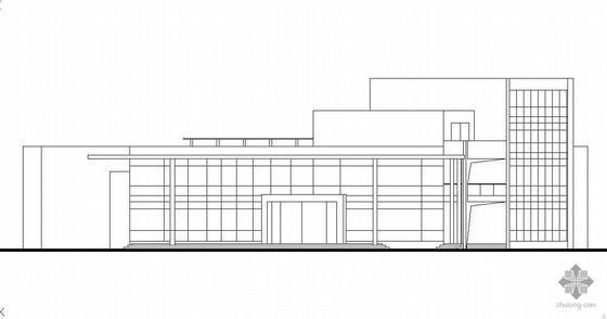 鄱阳湖某游客服务中心建筑方案设计(有效果图)