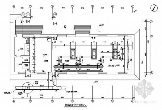 鼓风机房工艺图