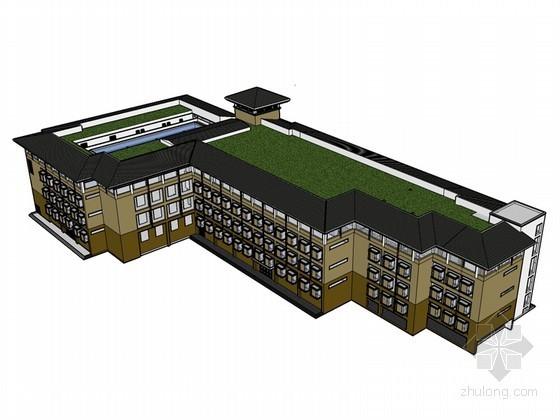 厂房办公楼SketchUp模型下载