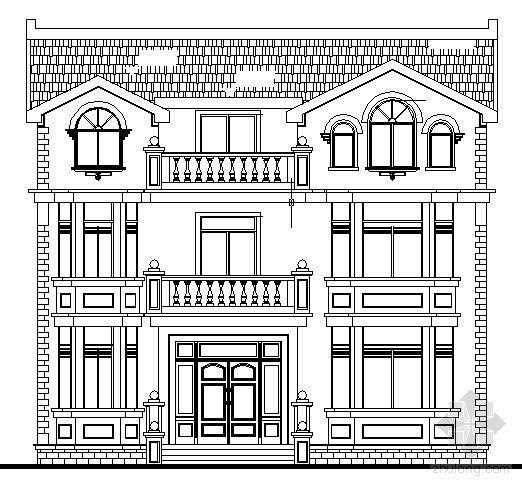某三层欧式别墅建筑施工图
