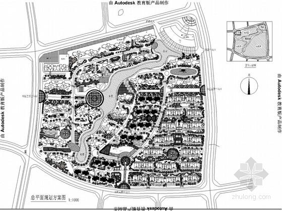 [青海]现代风格大型居住区景观规划平面