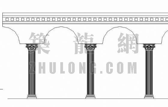 欧式廊柱施工图