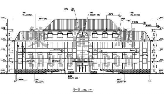 坡屋顶办公楼建筑施工图