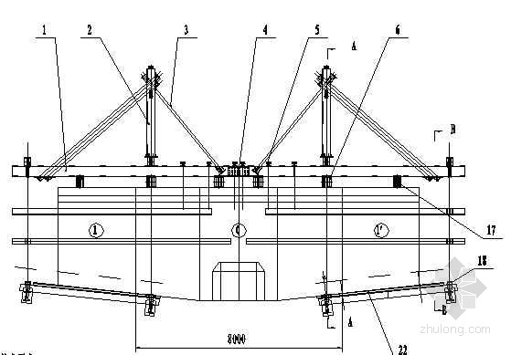 兰渝铁路某三跨连续桥挂篮设计图cada3的时候画图纸打印图片