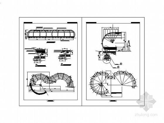 弧形钢管花架施工图