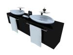 时尚洗手台3D模型下载