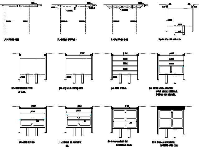 浙江地铁明挖地下二层岛式车站主体围护结构施工图纸25张(地下连续墙深29.61m)