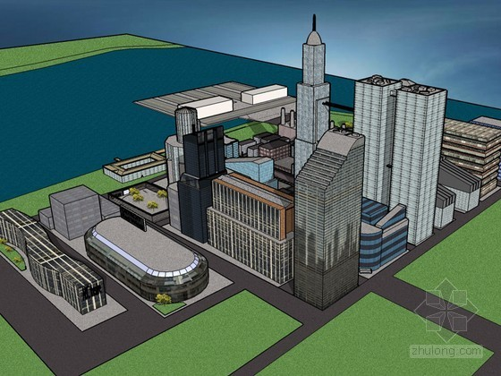 大型建筑SketchUp模型下载-大型建筑