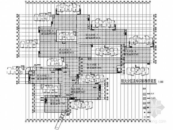 928个车位大型框架结构地下车库结构图(含建筑图)