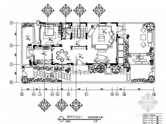 [天津]法式浪漫柔美的联排别墅样板间施工图(含效果图)