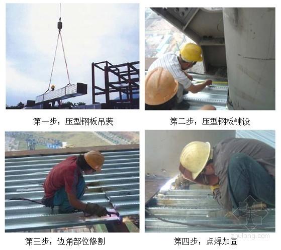 闭口型压型钢板组合楼板施工工艺(图)